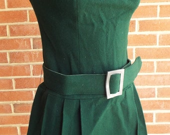 Vintage Sleeveless Green Dress by La Colette