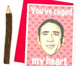 Funny Anniversary Card - You've Caged My Heart - Funny Card - I Love You Card - Love Card - Parody Card - Funny Pun Card - Funny Card