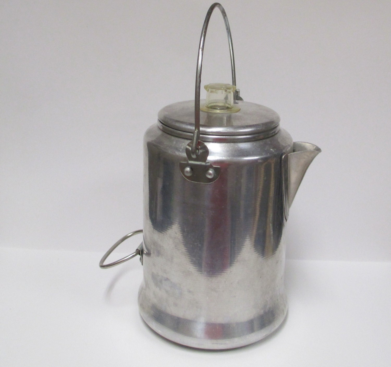 Mirro Percolator Coffee Maker : Vintage Mirro 9 cup Coffee Pot Aluminum Percolator Camping