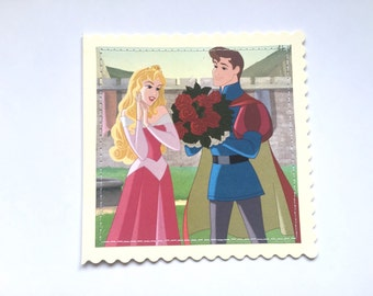 Sleeping Beauty - Disney Stitched Greeting Card and Envelope - Large - Blank