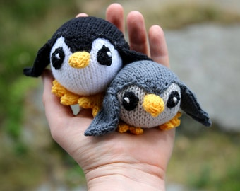 Penguin knitting pattern PDF, mobile hangers, diy gift and decoration, gift for kids and adults, baby shower