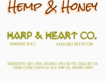 Hemp & Honey Chapstick