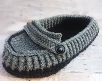Custom House Slippers - Men's Slippers - Husband Gift - House Shoes for Men - Men's House Slippers - Crochet Slippers - Dad Gift