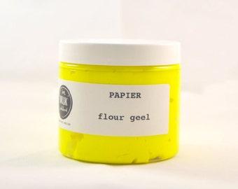 Screen printing ink paper, neon yellow