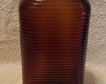"""Vintage Amber Pharmacy Bottle From Brooklyn, NY  """"Very Nice"""""""
