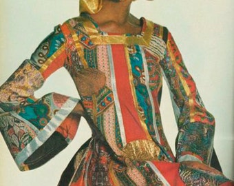 sale- Giorgio di Sant' Angelo - Klimt Dress, Fall 1969.