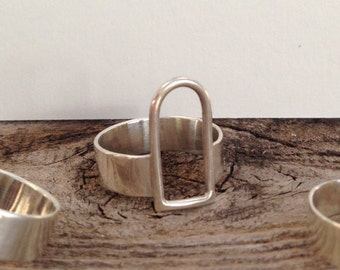 Tall Sterling Silver Archway Ring