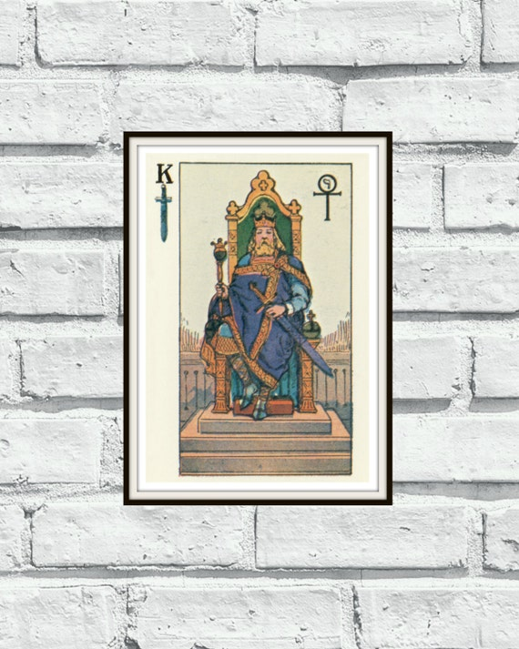 Small King Of Swords Knapp-Hall French Tarot By