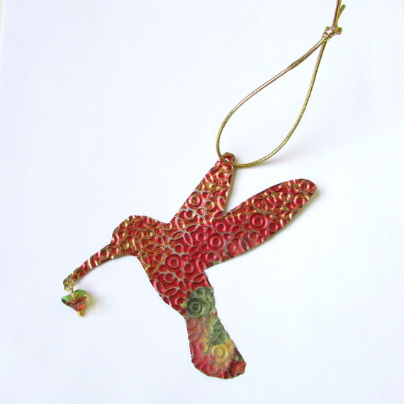Hummingbird ornament metal bird hummingbird wall decor for Hummingbird decor