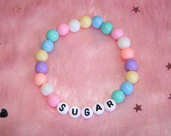 SUGAR Bracelet // Pastel Kawaii Cute Cyber Goth