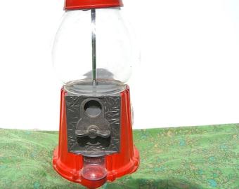 Vintage Red Continental Gum Ball Machine - 037