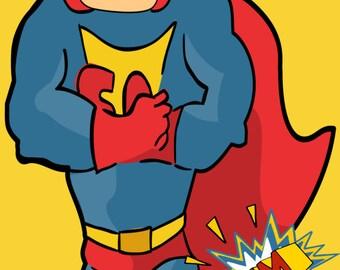 Super Heros /Super Hero Superman Party Decoration Life Size Cut Out//DIGITAL or PRINTED/ Item- SHSM-16