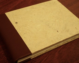 Handmade Leather Bound Sketchbook
