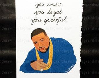 DJ Khaled Thank You Card