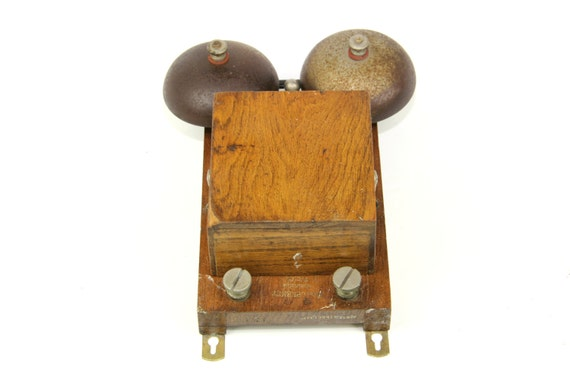 Vintage doorbell french metal double bell for your