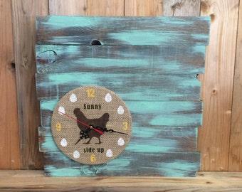 Pallet Clock Etsy