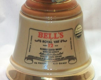 Jim Beam Bell Bottle 1969 Regal China Bell's Whiskey Bottle