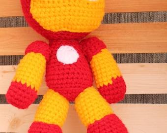 Iron Man Stuffy/ Plushie/ Nursery Decor/ Superhero Toy