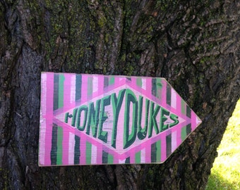Honeydukes Distressed Wooden Directional Sign - Made to Order