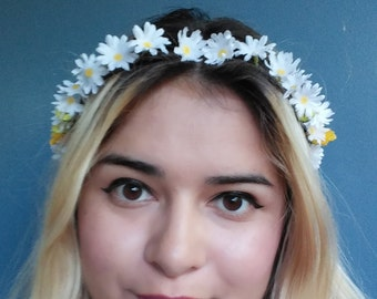 White Daisy Crown