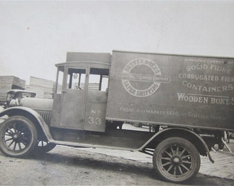 Original 1920's Chicago Mill and Lumber Company Delivery Truck Snapshot Photo - Free Shipping
