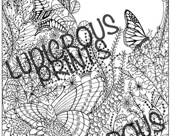 butterfly colouring colouring page coloring for adults instant download coloring coloring book coloring sheet advanced coloring - Advanced Coloring Pages Butterfly