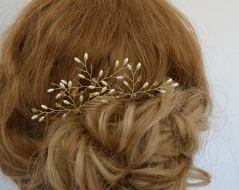 Golden Crystal Hair Pins, Golden Wedding Hair Accessories, Graduation Hair Pins, Bridal Hair Pins, Customised Hair Pins, Set of 3