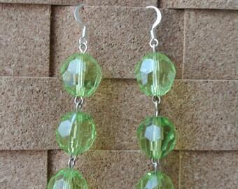 Chartreuse Dangle Earrings