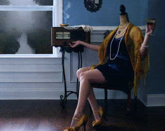 Mannequin Madness: 1920s Flapper - LIMITED EDITION, Matted Print, Surreal, Whimsical, Fine Art Photography