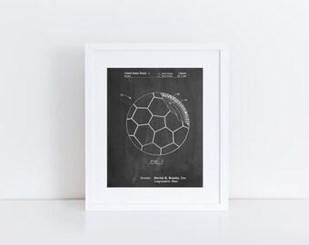 Soccer Ball Layers Patent Poster, Soccer Room Decor, Soccer Coach Gift, Soccer Wall Art, PP1047