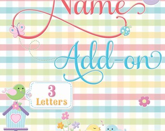 Name Add-on (3 Letters)