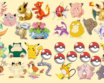 Pokemon Go Removable Repositionable Fabric Wall Decal Stickers 33 Piece Set Part 19