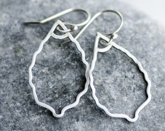 Silver Leaf Silhouette Earrings - handmade with tarnish resistant Argentium Silver