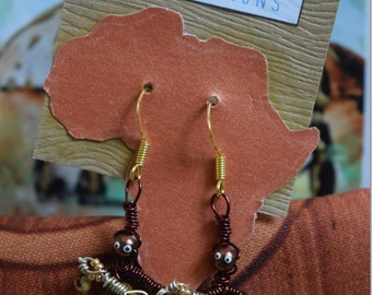 Handmade African Earrings - Make a Unique Gift!