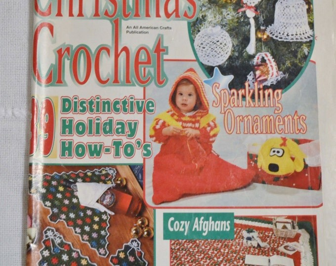 Christmas Crochet Magazine Holiday Craft Gift Projects Charts Patterns Vintage Instructions DIY Panchosporch