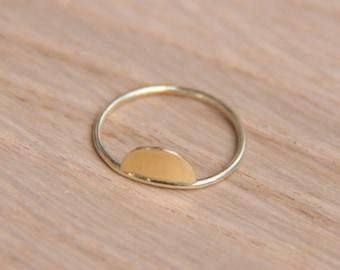rising sun ring. solid 14K gold ring. engagement ring. circle ring 585 gold. Sterling silver ring.