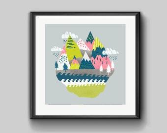 Magic Mountain limited Edition Print