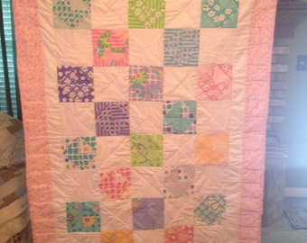 Multi Color Crib/Lap Quilt