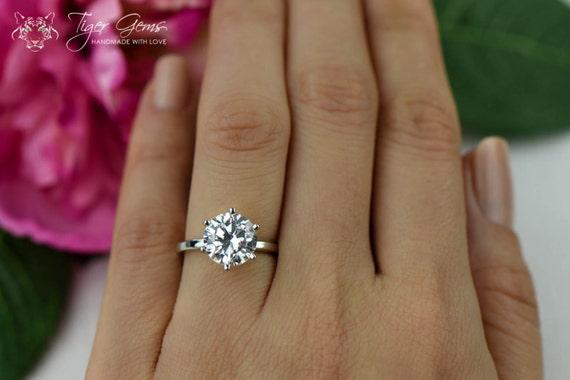 1 Carat Diamond Wedding Ring 82 Awesome  carat round cut