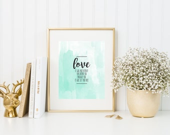 Love It Will Not Betray You | Mumford And Sons | 8x10 | Watercolor Quote Print