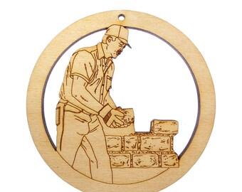 Brick and Stone Mason Ornament - Gift for Stone Mason - Gift for Brick Mason - Personalized Free