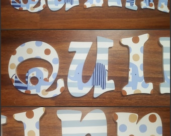 Gingersnap Andrew Inspired Hand Painted Custom Wood Wall Letters, Hand Painted Letters, Custom Name Letters, Custom Wood Letters