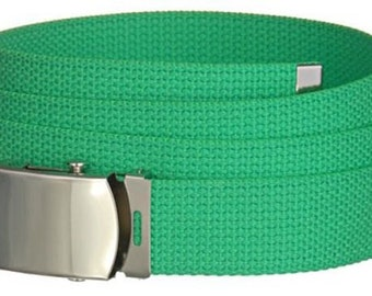 "1.25"" Military Belt, Canvas Belt, Cotton Webbing, Military Belt Buckle, School Uniform Belt, Kids Belt, Mens Belts, Womens Belts"