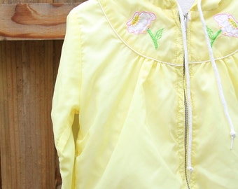 Pale Yellow Little Girl Hooded Jacket / 2T / 3T