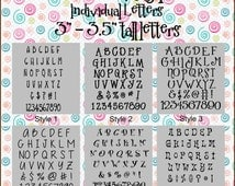 """3"""" - 3.5"""" tall - Individual Vinyl Letters - Adhesive"""