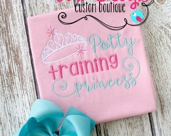 Little Girls Potty Training Princess Shirt- Great Gift!