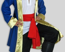 Blue Pirates jacket lined in Gold Satin.