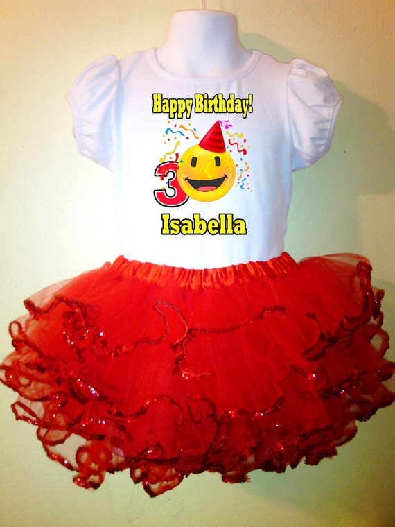 Happy Birthday Tutu Red Emoji