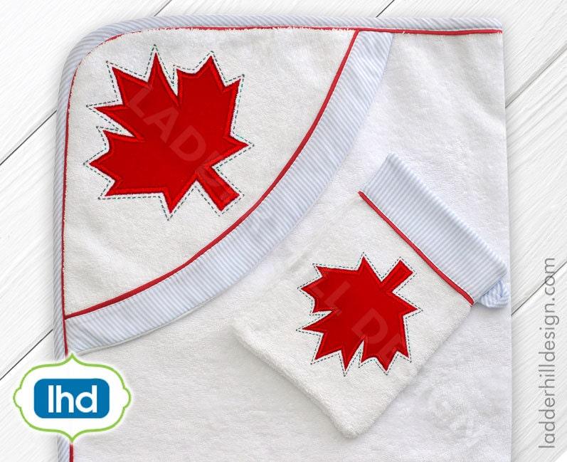 Canada maple leaf machine embroidery design canadian