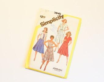 SIZE 20 5845 WOMEN'S SIMPLICITY Uncut Sewing Pattern Vintage Misses' Strappy Sun Dress & Summer Jacket 1980s Womens Eighties American Hustle